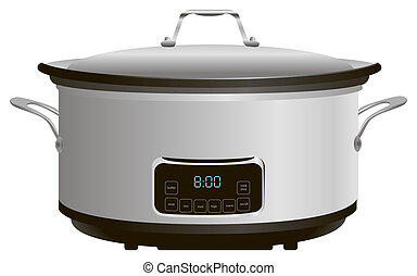 Programmable Slow Cooker - Programmable electric pan for...