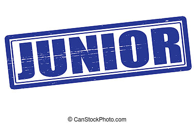 Junior - Stamp with word junior inside, vector ilustration