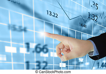 Stock exchange chart.