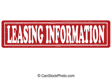 Leasing information - Stamp with text leasing information...