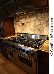 Tennesee Home Gas Stainless Steel Stove and Oven - Image of...
