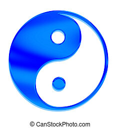 Yin-yang Tai Chi in Chinese art, the symbol