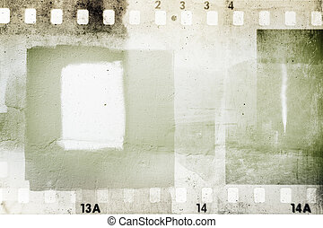 Film frames  - Film negative frames grunge background