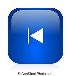prev icon - blue glossy computer icon