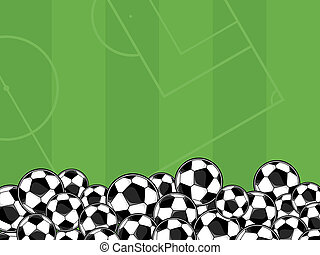 soccer balls vector background - soccer balls border on...