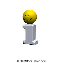 info point - info symbol with smiley on white background -...
