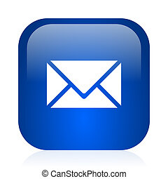 email icon - blue glossy computer icon