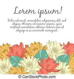 Wedding card with floral elements - Vector wedding card with...
