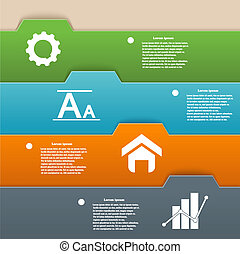 Infographics design of colorful stripes. Vector