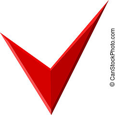 Red Check mark for design. Vector