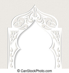 Abstract grunge background with arch in the Asian style....