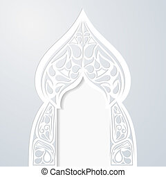 Abstract Indian arch. Vector illustration