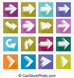 Arrow icons vector illustration shadow