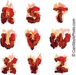 English  burning alphabet