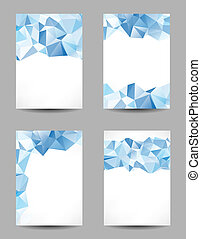 Backgrounds with abstract triangles - Set of templates with...
