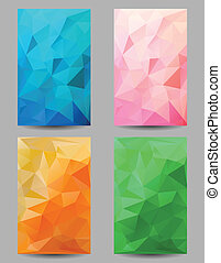 Backgrounds with abstract triangles - Set of backgrounds...