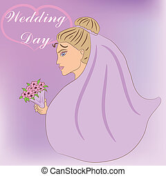 wedding day - vector wedding day background