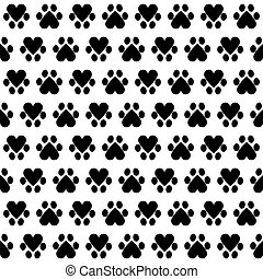 animal footsteps - Seamless pattern with animal footsteps on...