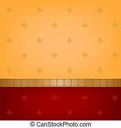indian pattern - Orange and red background with indian...
