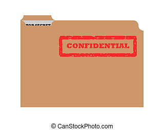 Opened confidential envelope - Opened brown envelope with...