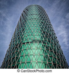 Modern Architechure - FRANKFURT, GERMANY - AUGUST 23:...