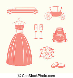 Vector Wedding Elements
