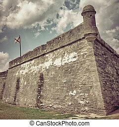 St Augustine - Castillo de San Marcos in St Augustine,...