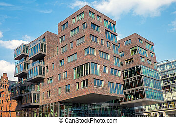 Modern building in the Hafencity in Hamburg, Germany