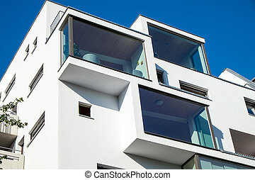 Modern building in Berlin - A modern building with big...