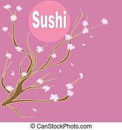 sushi background - vector sushi background