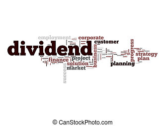 Dividend word cloud