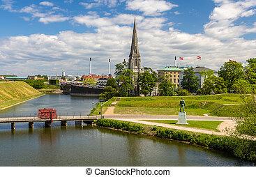 View of Sankt Albans Kirke in Copenhagen
