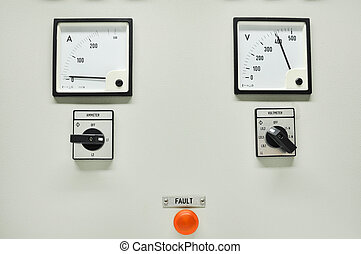 Close up of an Electric meter,Electric utility meters for an...