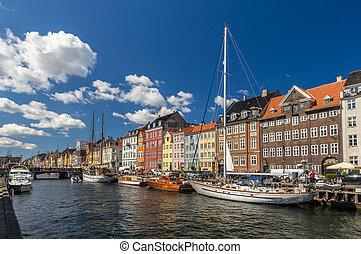 Nyhavn, a waterfront in Copenhagen, Denmark
