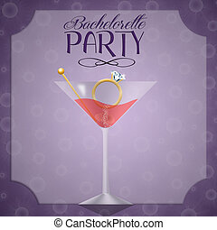Invitation for bachelorette party - illustration of...