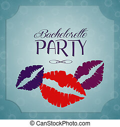 Bachelorette party invitation - illustration of Bachelorette...