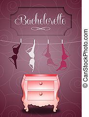 Bachelorette party - illustration of bras for Bachelorette...