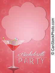 Bachelorette party invitation - illustration of invitation...