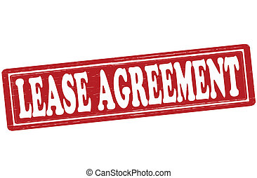 Lease agreement - Stamp with text lease agreement inside,...