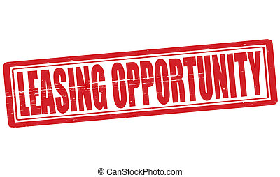 Leasing opportunity - Stamp with text leasing opportunity...