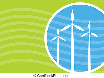 Industrialy template, Wind power concept, template with...