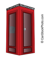 telephone box isolated on a white background