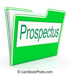 File Prospectus Shows Advertise Pamphlet And Describe -...