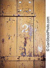 Number 2 on a wooden wall