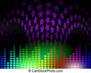Background Equaliser Represents Musical Backdrop And Audio -...