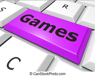 Games Online Shows World Wide Web And Entertaining - Games...