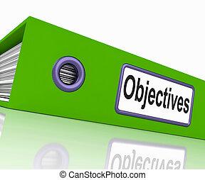 objetivos, arquivo, meios, Correspondência,...