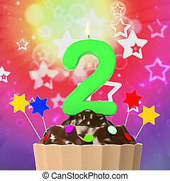 Two Second Indicates Birthday Party And 2 - Birthday Two...