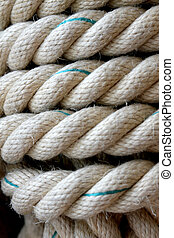 rope and hemp for rope ladder or to moor ships - large rope...