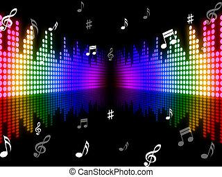 Plano de fondo, Música, medios, sonido, pista, y,...